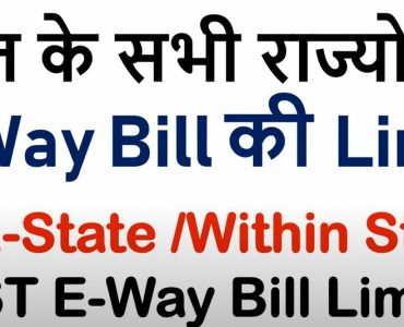 State-wise limits of E-way bill generation as on 31.03.2021